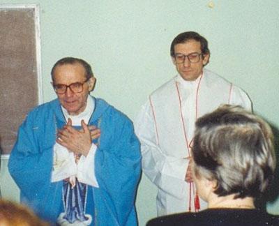 о. Бернардо Антонини и о. Сергей Николенко (справа). Начало 90-х гг.