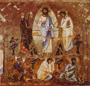 Преображение Господне, синайская икона XII века