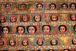 Роспись потолка храма в Эфиопии