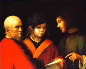 Джорджоне, Три возраста человека (Иисус и богатый юноша), 1501