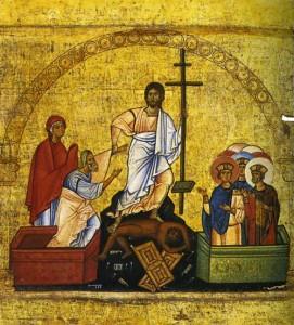 Воскресение Христово. Фрагмент эпистилия темплона с изображениями праздников из монастыря св. Екатерины на Синае. XII век.