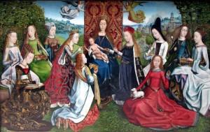 Неизвестный художник, Дева среди дев. Конец XV в.