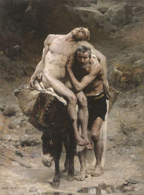 """AimÈ Morot (1850-1913). """"Le bon Samaritain"""", 1880. Huile sur toile. MusÈe des Beaux-Arts de la Ville de Paris, Petit Palais."""